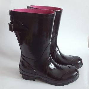 London Fog Black Rain Boots